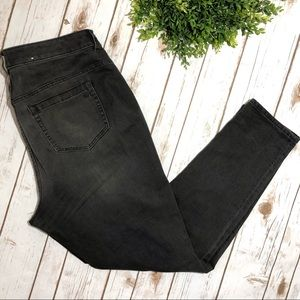 Vince Camuto Black Skinny Jeans High Waist Plus